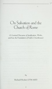 Cover of: On salvation and the Church of Rome