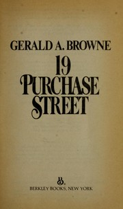 Cover of: 19 Purchase Street