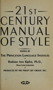 Cover of: 21st century manual of style