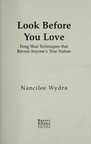Cover of: Look before you love