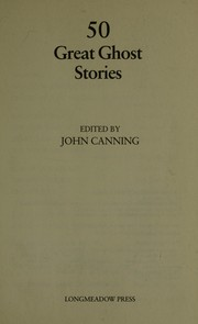 Cover of: 50 great horror stories | John Canning