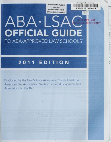 ABA-LSAC official guide to ABA-approved law schools by American Bar Association