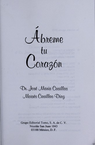 A breme tu corazo n by Jose  Mari a. Casillas