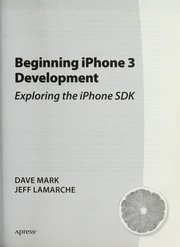 Cover of: Beginning iPhone 3 development
