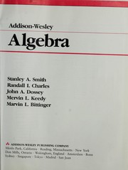 Cover of: Addison-Wesley Algebra