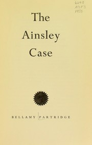 Cover of: The Ainsley case