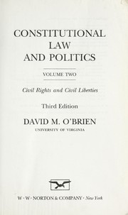 Cover of: Constitutional law and politics