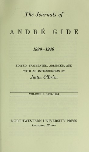 The journals of André Gide, 1889-1949 by André Gide