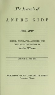 Cover of: The journals of André Gide, 1889-1949 | André Gide