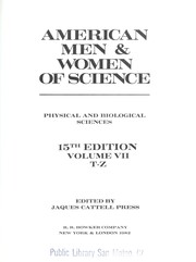 Cover of: American Men and Women of Science | Jaques Cattell