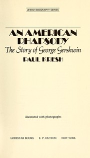 Cover of: An American rhapsody | Paul Kresh