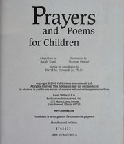 Cover of: Poems and prayers for children