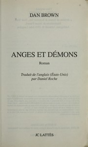 Cover of: Anges et de mons