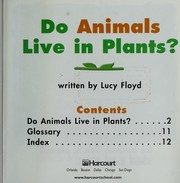 Cover of: Do animals live in plants?