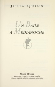 Cover of: Un baile a medianoche