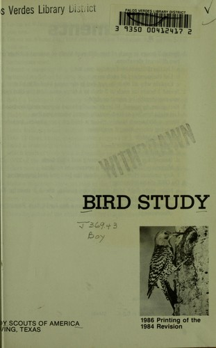 Bird study by Boy Scouts of America