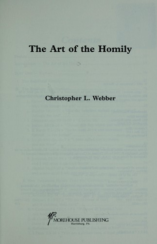 The art of the homily by Webber, Christopher.