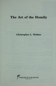 Cover of: The art of the homily | Webber, Christopher.