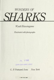 Cover of: Wonder Of Sharks