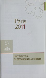 Cover of: Paris restraunts & hotels 2011 |
