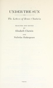 Cover of: Under the sun
