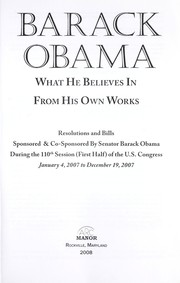 Cover of: Barack Obama