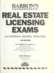 Cover of: Barron's real estate licensing exams