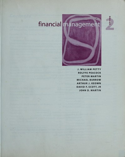 Financial management by J. William Petty