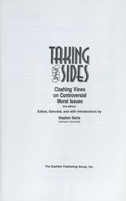 Cover of: Taking sides. |