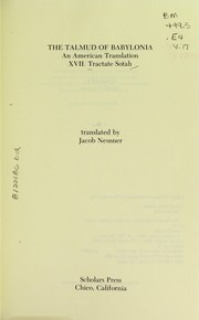 Cover of: Tractate Sotah