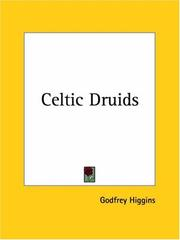 Cover of: The Celtic Druids