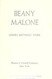 Cover of: Beany Malone |