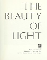 Cover of: The beauty of light