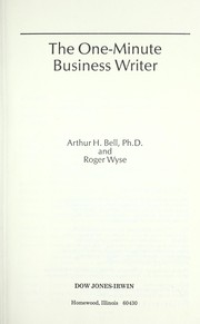 Cover of: The one-minute business writer