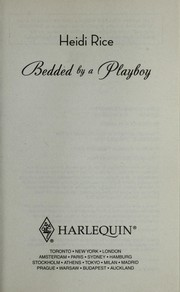 Cover of: Bedded by a playboy
