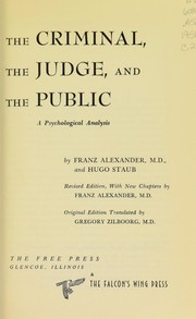 Cover of: The criminal, the judge, and the public