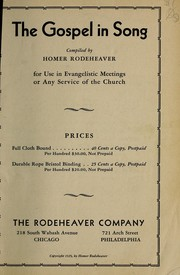 Cover of: The gospel in song | Homer A. Rodeheaver