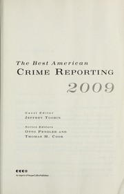 Cover of: The best American crime reporting 2009