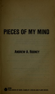 Cover of: Pieces of my mind | Andrew A. Rooney