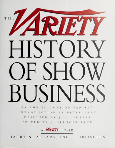 Business Book Cover History : The variety history of show business edition open