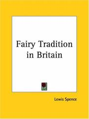 Cover of: The fairy tradition in Britain