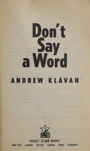 Cover of: Don't say a word