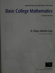 Cover of: Basic college mathematics