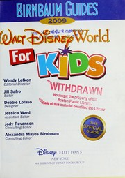 Cover of: Birnbaum guides Walt Disney World for kids 2009