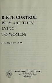 Cover of: Birth control | J. C. Espinosa