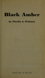 Cover of: Black Amber | Phyllis A. Whitney