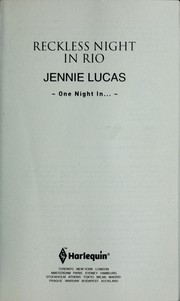 Cover of: Reckless night in Rio | Jennie Lucas