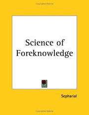 Cover of: The science of foreknowledge