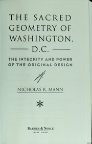 Cover of: The sacred geometry of Washington, D.C.