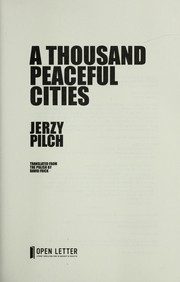 Cover of: A thousand peaceful cities